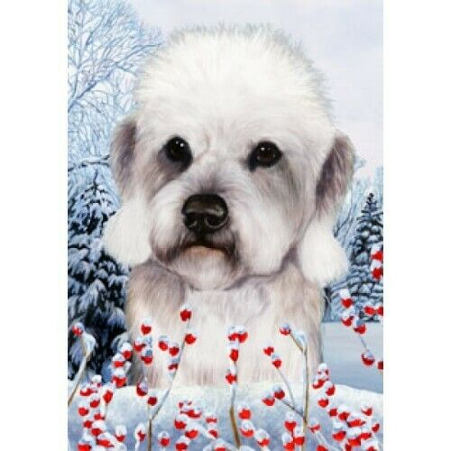 Winter House Flag - Pepper Dandie Dinmont Terrier 15211