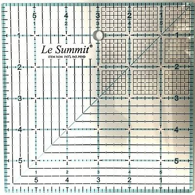 Le Summit 6 Inch X 6 Inch Quilting Ruler #34266 Clear