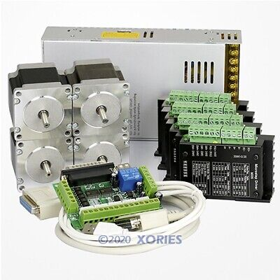 4 Axis Cnc Controller Kit Nema23 Stepper Motor 175 Oz-in M335 Motor Driver 3.5a