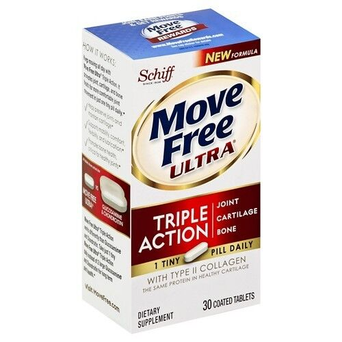 Move Free Ultra Triple Action Joint Supplement with Type II Collagen, Hyaluro...