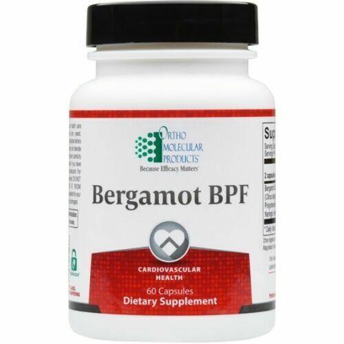 New* Bergamot BPF 60 capsules - Ortho Molecular - Dietary Supplement 01/22
