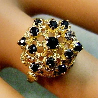 9ct gold Second hand sapphire ring