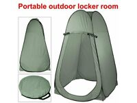 Pop Up CampingTent Bench Hiking Outdoor Indoor w/20L Portable Toilet
