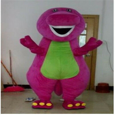 Chic Best Barney Dinosaur Mascot Costume Cartoon Party Fancy Dress Gift 2019 - Best Costume Party