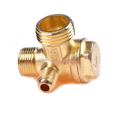 Air Compressor 3-port Brass Male Threaded Check Valve Connector Tool T Co