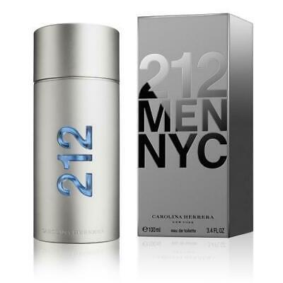 212 BY CAROLINA HERRERA 3.4 O.Z EDT SPRAY *MEN'S PERFUME* NEW IN BOX COLOGNE