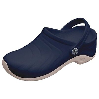 Anywear Clogs - Anywear ZONE Unisex SLIP RESISTANT Slip On Clog Nurse Shoes Navy,FREE SHIPPING!