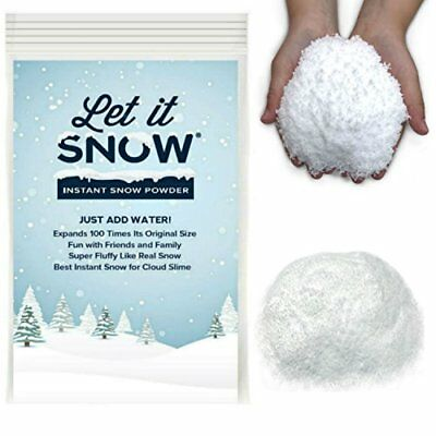 Best Instant Snow Powder for Slime Mix Makes 1 Gallon of Fluffy White Fake
