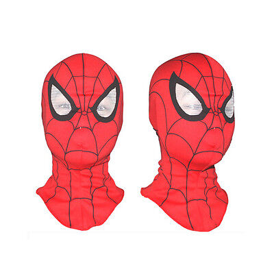 Super Hero Spiderman Red Mask Fancy Dress Cosplay Costume Adult Kids Mask New - Spiderman Masks