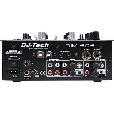 DJ Tech DJM 303 Twin USB 2CH DJ Mixer 9 Effects including in-LoopSampler ()