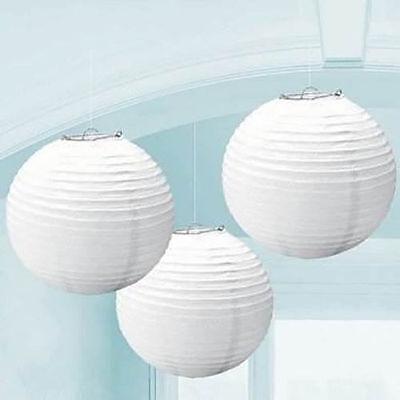 "10pk White Paper Lanterns Lamp 8"" Wedding Venue Decorations"