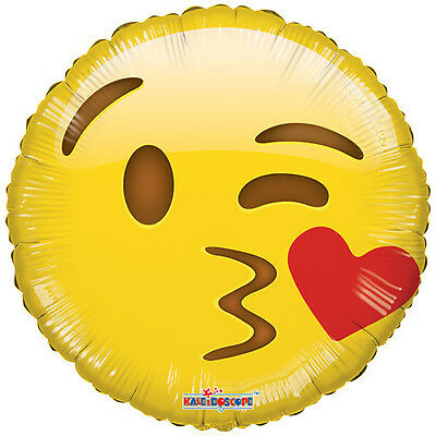 Balloon Mylar Emoji Smiley Face Kisses 18