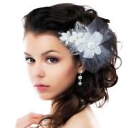 Feather Flower Hair Clip