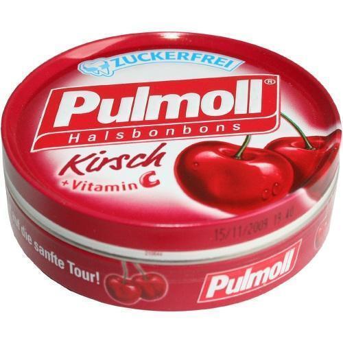 PULMOLL Hustenbonbons Wildkirsch+Vit.C zuckerfrei 50 g