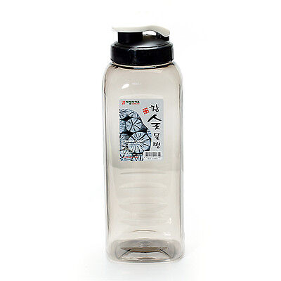 1.2L Square Shaped Charcoal Water Bottle Transparent and simple design HARA