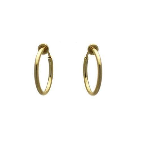 clip on gold hoop earrings ebay