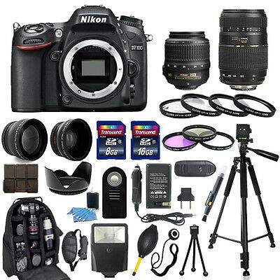 Nikon D7100 Digital Camera + 18-55mm + 70-300mm + 30 Piece Accessory Bundle