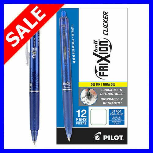 ~SALE~Pilot FriXion Ball Clicker 0.7 Retractable Erasable Ink Gel Pen,12ct Blue