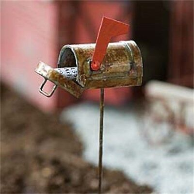 Miniature Dollhouse FAIRY GARDEN - Rustic Mailbox - Accessories