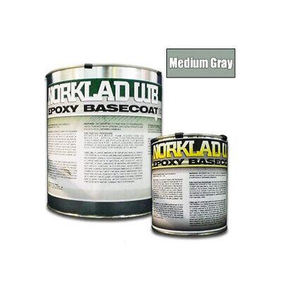 Norklad Wb - Waterborne Epoxy Floor Paint Base Coat Medium Gray 1 Gallon Kit