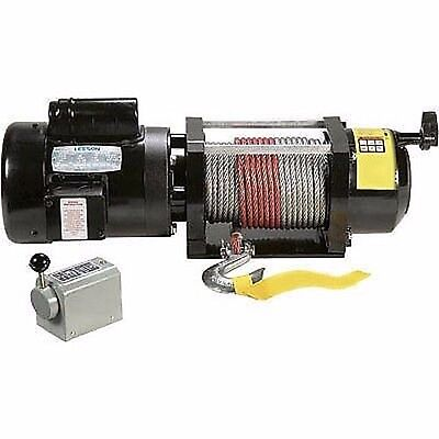 - WINCH 110V / 240V AC - 2000 Lb Cap - 100Ft Cable - Drum switch - .75 Hp
