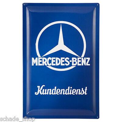 Original Mercedes Blechschild mit Schrift Mercedes-Benz Kundendienst B66043439