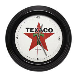14 Texaco LED Wall Clock. Retro/Vintage Look, OfficiallyLicensed Product