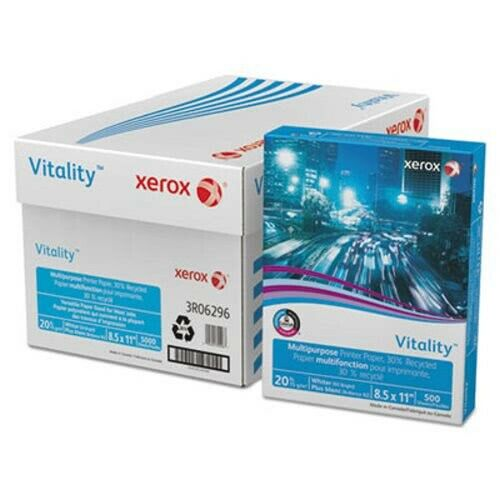Xerox Recycled Copy Paper, 20-lb, 8-1/2 x 11, White, 500 Sheets (XER3R06296)