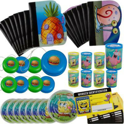 Spongebob Birthday Party Favors - SPONGEBOB SQUAREPANTS FAVOR PACK (48pc) ~ Birthday Party Supplies Toys Stuffers