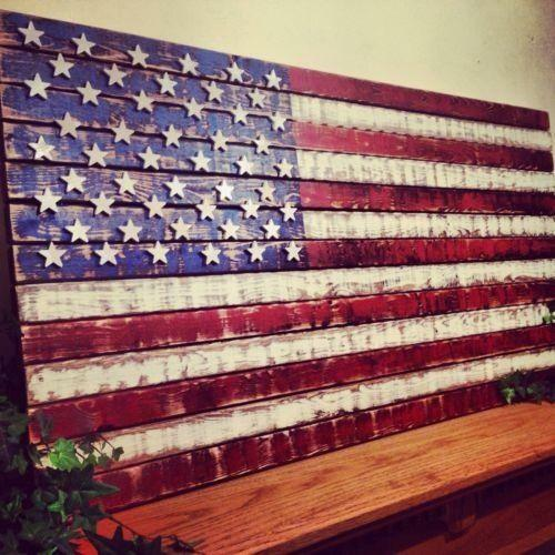 wooden american flag ebay. Black Bedroom Furniture Sets. Home Design Ideas