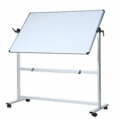 Viz-pro Double-sided Magnetic Mobile Whiteboard Aluminum Frame Stand Office
