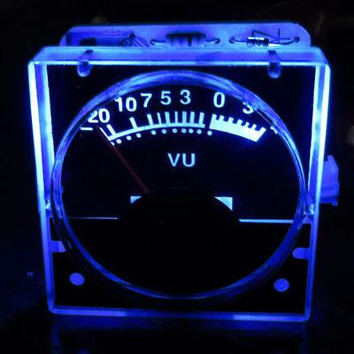 2pcs 12v Analog Panel Vu Meter Audio Level Meter Blue Back Light No Need Driver