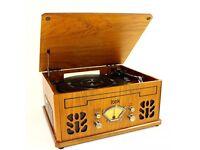 Itek Antique Record/CD/Cassette/Radio Player