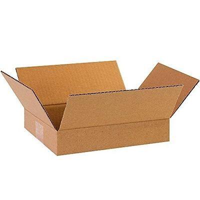 100 9x9x3 Cardboard Shipping Boxes Flat Corrugated Cartons