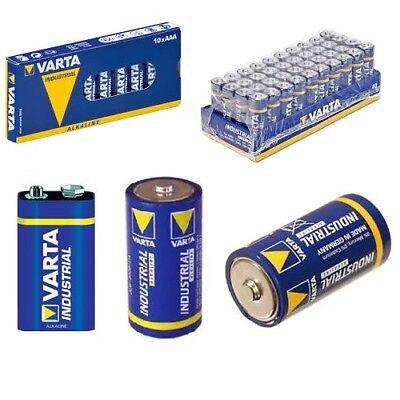 Varta Batterien AA AAA 9V Baby C Mono D Industrial Mignon Micro Hochwertige Ware