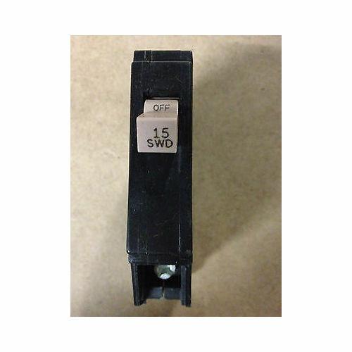 NEW Cutler Hammer CH115 SWD Circuit Breaker 15 Amp 1 Pole 120 Volt