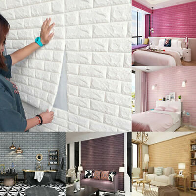 Home Decoration - 1/10/20x 3D Tile Brick Wall Sticker Self-adhesive Waterproof Foam Panel Sticker