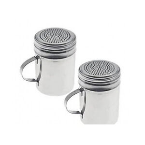 Salt Pepper Set Spice Sugar Shaker Dispenser Large Heavy Duty Stainless Steel