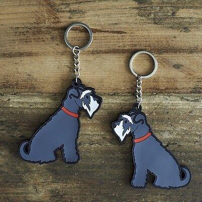 Schnauzer Dog Keyring Gift/Present Key Ring