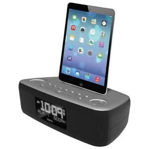 iHome IDL44GC Dual Alarm Clock Radio - No FM Cable,  ipad not included in this item from the picture (no Box)****Read***