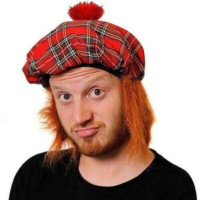 Tartan Mütze Rot Tam O Shanter Ingwer Haar - Schottische Mütze