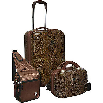 Heys USA 3 Piece Weekender Hardside Spinner Set - Snake on Rummage
