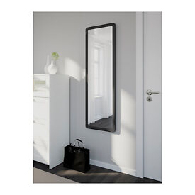 Ikea black Grua mirror (delivery available)