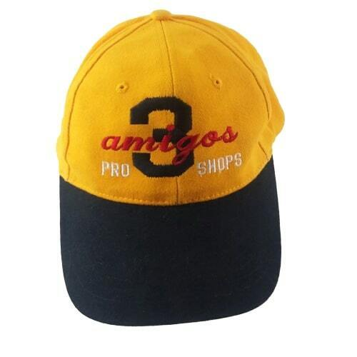 3 Amigos Bowling Pro Shop Strapback Hat Lady Lake FL Yellow Black