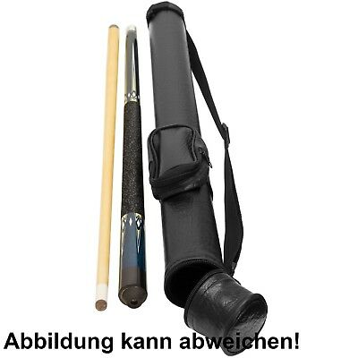 Profi Billard Queue + Köcher Billardqueue Set 146cm Schraubqueue mit Tasche ()
