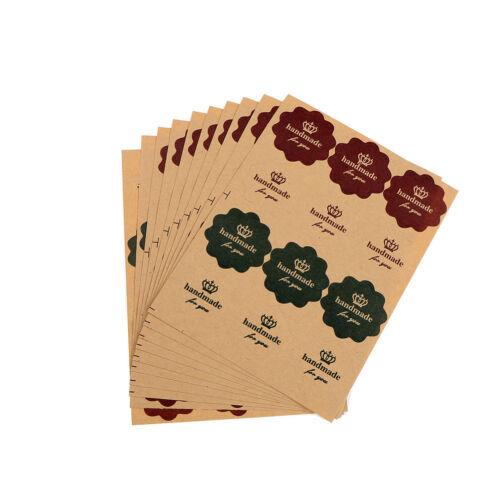 120PCS Vintage Kraft Paper Handmade you Seal Lab NM