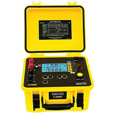 Aemc 6240 Micro-ohmmeter 10a Instantaneous Continuous Multiple Test