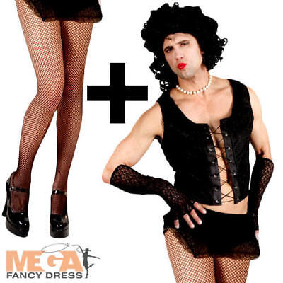 Transvestite Dr Frank n Furter + Tights Rocky Horror Fancy Dress Adults Costume