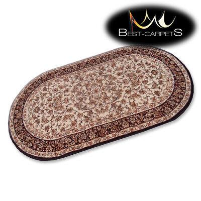 Traditionelle Ovale Teppich (Traditionell Agnella Oval Teppiche Creme Blumenmuster