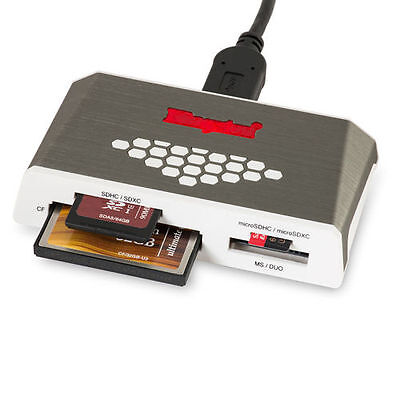 kingston USB 3.0 High-Speed Media Card Reader & Writer For Mac & PC All in One